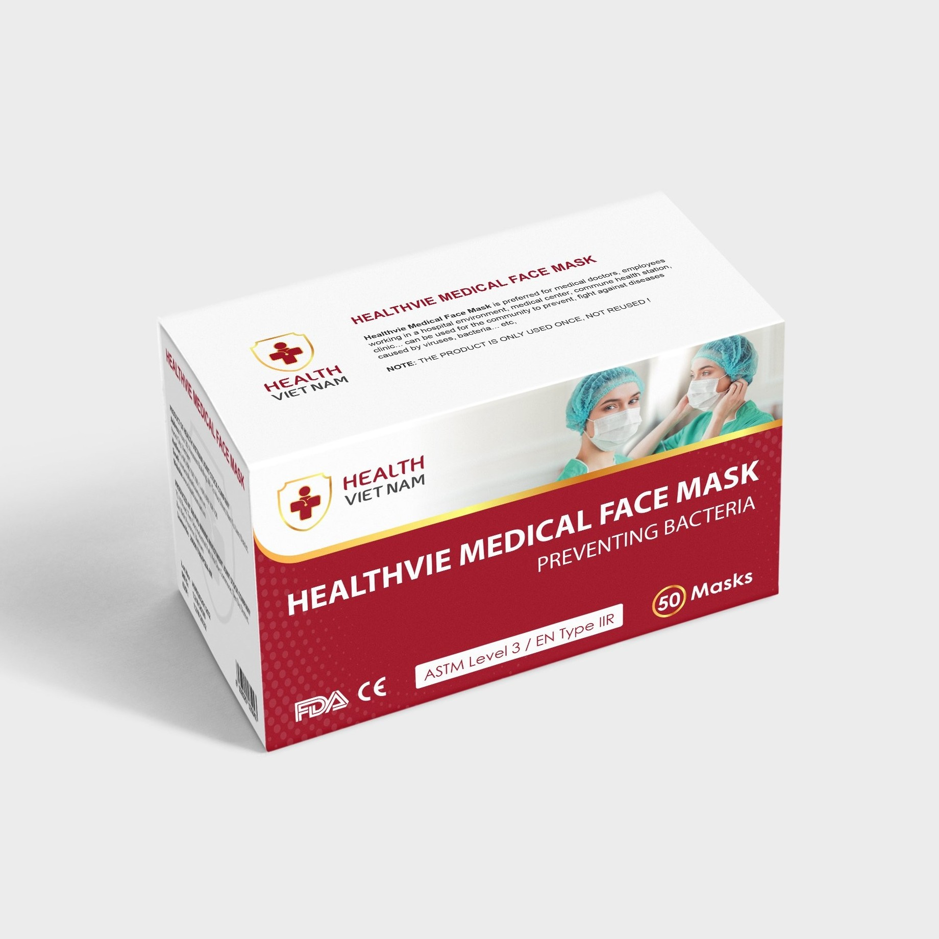 Healthvie Medical Face Mask Preventing Bacteria Level 3 - Export